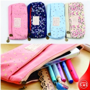 Pencil Case-005 Double Zipper Canvas